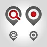 地图别针商标 免版税库存照片