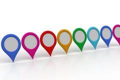 地图定位器 库存照片