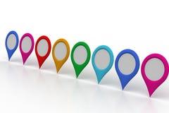 地图定位器 免版税库存照片