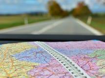 地图旅行路布拉格欧洲 免版税库存图片