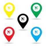 地图标志 库存图片