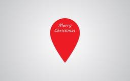 地图标记的例证用文本圣诞快乐 库存图片