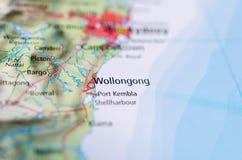 地图的伍伦贡 免版税库存照片