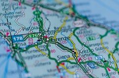 地图的佛罗伦萨 免版税库存图片