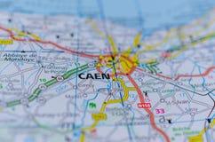 地图的凯恩 免版税库存图片