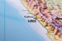 地图的利马 免版税库存照片