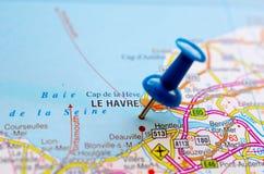 地图的勒阿弗尔 库存图片
