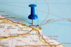 地图的布林迪西 免版税库存图片