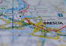 地图的布雷西亚 免版税图库摄影