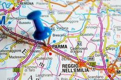 地图的帕尔马 免版税库存照片