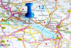 地图的康斯坦茨 免版税库存图片