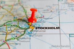 地图的斯德哥尔摩 库存图片