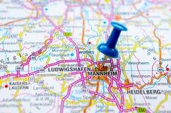 地图的曼海姆 免版税库存照片