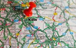 地图的科隆 免版税库存照片