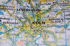 地图的科隆 库存图片