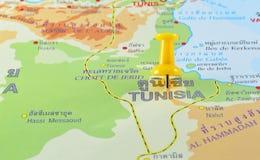 地图的突尼斯 免版税库存图片