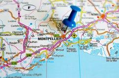 地图的蒙彼利埃 免版税库存照片