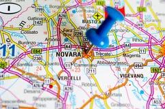 地图的诺瓦腊 库存图片