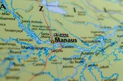 地图的马瑙斯 库存图片