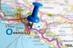 地图的马赛 库存图片