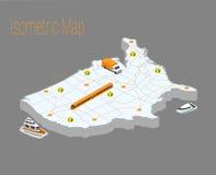 地图美国等量概念 免版税库存图片