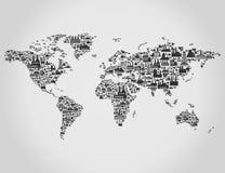运输地图 免版税库存图片