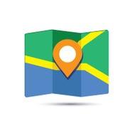 地图象3D Pin设计 库存照片