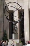 地图集中心城市新的洛克菲勒雕象约&# 库存照片