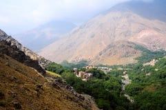 地图集摩洛哥山遥控村庄 库存图片