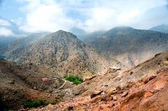 地图集摩洛哥山 库存照片