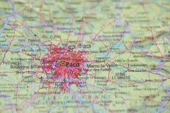 地图集映射巴黎 免版税库存图片