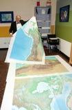 地图集最大的抵销打印世界 库存图片