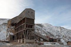 地图集煤矿,东部Coulee,在Drumheller东部,亚伯大, Febru 图库摄影