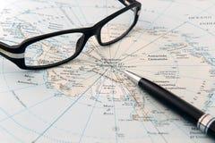 地图集玻璃 库存图片