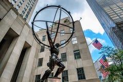 地图集著名雕象在纽约 库存图片