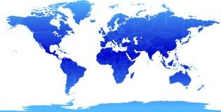 地图集蓝色 库存图片