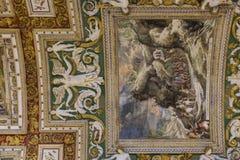 地图画廊的天花板  免版税库存图片