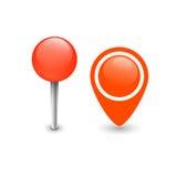 地图Pin标志 库存例证
