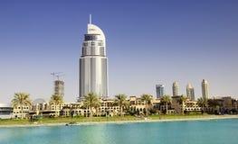 地址旅馆在街市迪拜地区 免版税库存照片