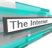 地址棒互联网网站 免版税库存照片