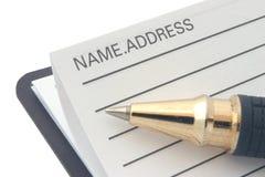 地址簿电话 免版税库存图片
