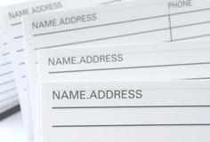地址簿电话 免版税库存照片