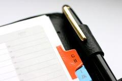 地址簿 免版税库存图片