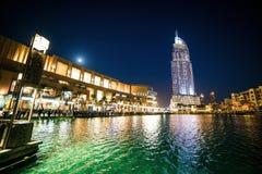地址迪拜旅馆 免版税库存照片
