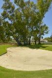地堡在高尔夫球场 免版税库存照片