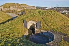 地堡在fredriksten堡垒 免版税库存照片