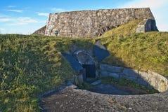 地堡在fredriksten堡垒 免版税库存图片
