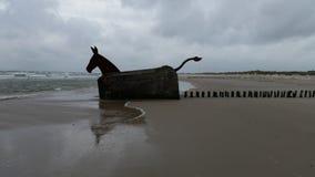 地堡艺术在Blavand丹麦 库存照片