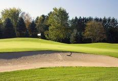 地堡路线高尔夫球危险等级 库存照片