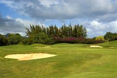 地堡路线高尔夫球沙子 免版税库存照片
